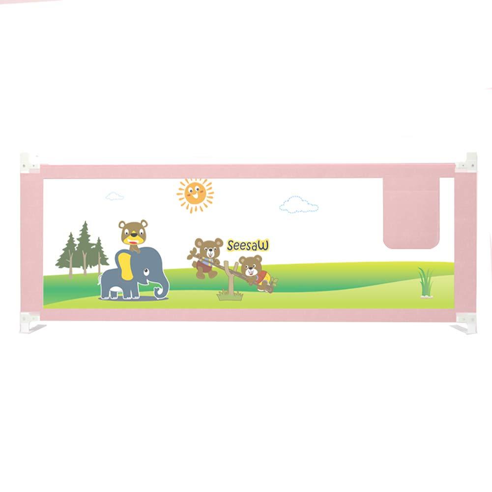 ベッドフェンス- ピンクベッドレールガード、垂直昇降安全シングル/ダブルベッド用幼児ベッドレールガードレール、サイズオプション(片側) (サイズ さいず : 200cm) 200cm  B07KZQRW56
