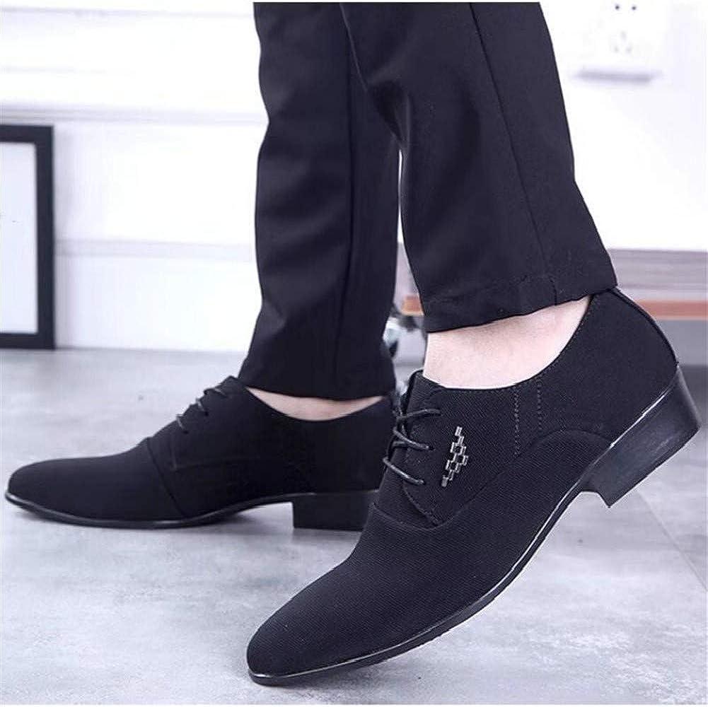 zapatos casuales Los hombres de negocios de Oxford for el vestido formal atan for arriba Vamp lienzo en punta del dedo del pie del tal/ón del bloque del estilo brit/ánico cuello en cont Zapatos de moda