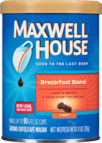 Maxwell House Breakfast Blend Ground Coffee, 11-Ounce Cannister (Pack of 3)