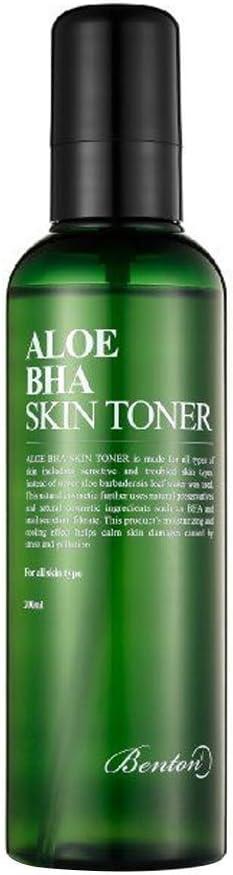 Benton Cosmetic Aloe BHA Skin Toner 200ml / Reduces Blackheads/Mildly Exfoliates/Hydrates & Nourishes/Soothe/BHA Contained