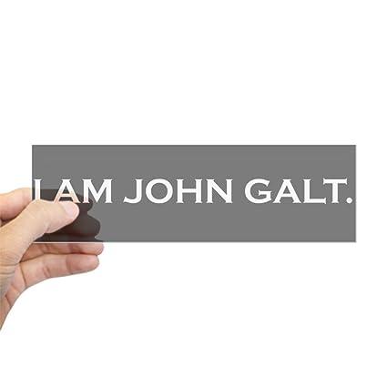 Amazon Com Cafepress I Am John Galt Bumper Sticker Sticker