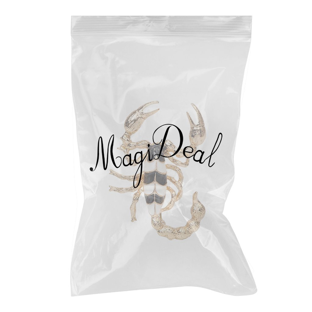 Jili Online Retro Enamel Animal Scorpion Brooch Pins Constellation Jewelry Gift for Mens Suit Decor
