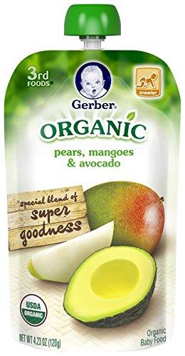Gerber Organic 3rd Foods Fruits - Pears Mangoes & Avocado - 4.23 oz - 6 pk