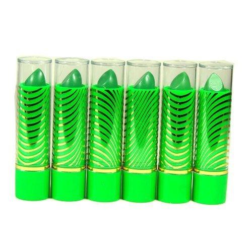 Aloe Vera Color Change Mood Lipstick Assorted Lipsticks 6 pc Green