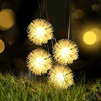 chuzzle ball solar string lights loende christmas lights 8 modes solar powered outdoor string lights - Led Warm White Christmas Lights