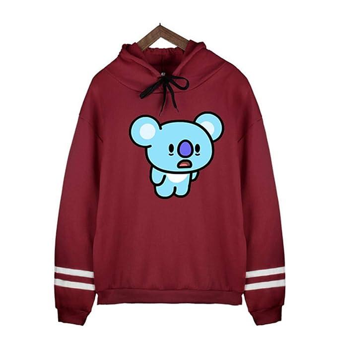 Hip Hop BTS BT21 Sudaderas con Capucha de Manga Larga Mujer Harajuku Kawaii Streetwear Tops Suga JIN Jimin V Jungkook JHOPE Jerseys: Amazon.es: Ropa y ...
