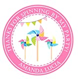 Pinwheel Birthday Party Stickers