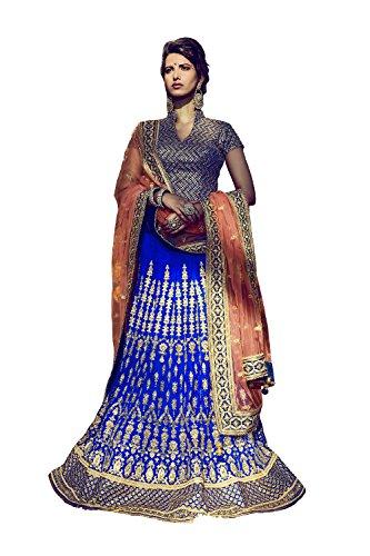 PCC Indian Women Designer Wedding blue Lehenga Choli K-4758-42022