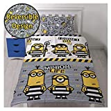 Duvet Covers and Curtains Minions Single Duvet Cover&Pillowcase&Set Curtains,Kids Duvet Cover. (Single Duvet Cover&Pillowcase)