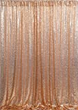 QueenDream 7ftx7ft Rose Gold Background Sequin Backdrop backdrops Photography Photography Backdrop for Kids