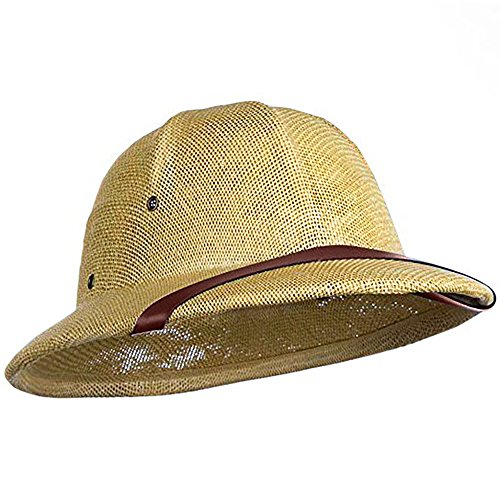 Nicky Bigs Novelties British pith Helmet Safari Jungle Explorer Hunter African Professor Costume Hat