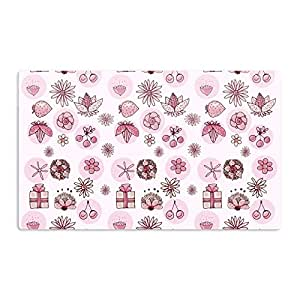 """KESS InHouse Marianna Tankelevich """"Cute Stuff"""" Pink Illustration Artistic Aluminum Magnet, 2"""" by 3"""", Multicolor"""