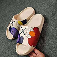 2021 summer new coconut couple's home stepping on excrement slipper men's breathable Beach Sandal 36 (New…