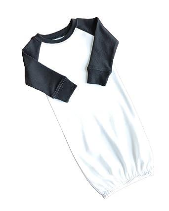 454deb75be Amazon.com  Monag Long Sleeve Raglan Baby Gown  Clothing