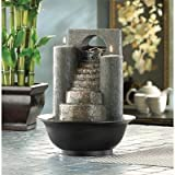 Fire and Water Combined Tabletop Water Pump Cascading Fountain
