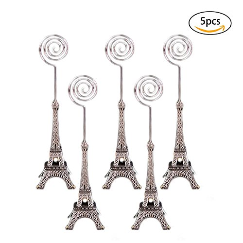 Eiffel Tower Place Card Holders - Dproptel Unique Eiffel Tower Style Card Holder Memo Clip For Note Message Clip Photo Display Wedding Table Name Home Shops Decoration - Pack of 5