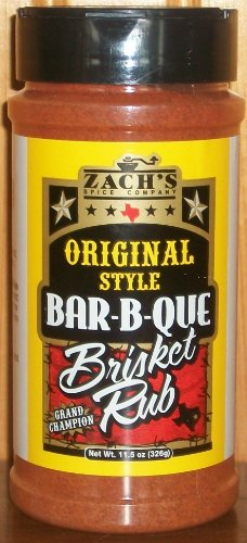 Zach's Rub 11.5oz Bottle (Pack of 3) (Original Style Bar-B-Que Brisket Rub) (Brisket Texas Rub)