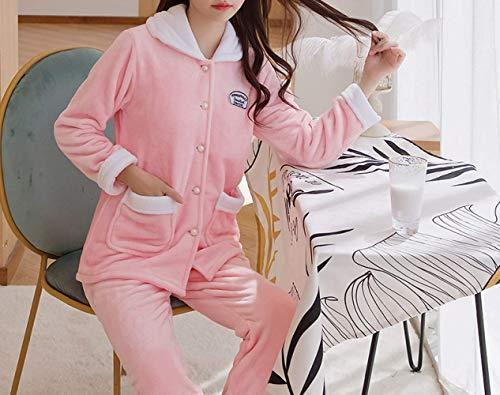 Franela Red Velvet Xl Home color Watermelon Domicilio Traje Cardigan Invierno Tamaño Cómodo Pijamas Servicio Solapa De Cálido Gran Mmings A Y Size Mujer Coral tYwgq1q