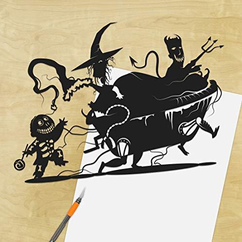 Nightmare Before Christmas, Lock Shock and Barrel, UNFRAMED, Papercut, Oogie Boogie Boys, Halloween Town, Jack Skellington, Tim Burton, Horror Art, Goth]()