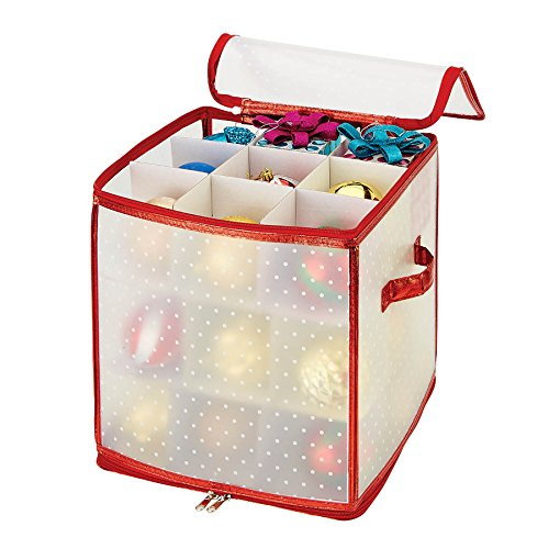 Simplify - 27-Count Jumbo Ornament Storage Cube- 4inch Ornamnets