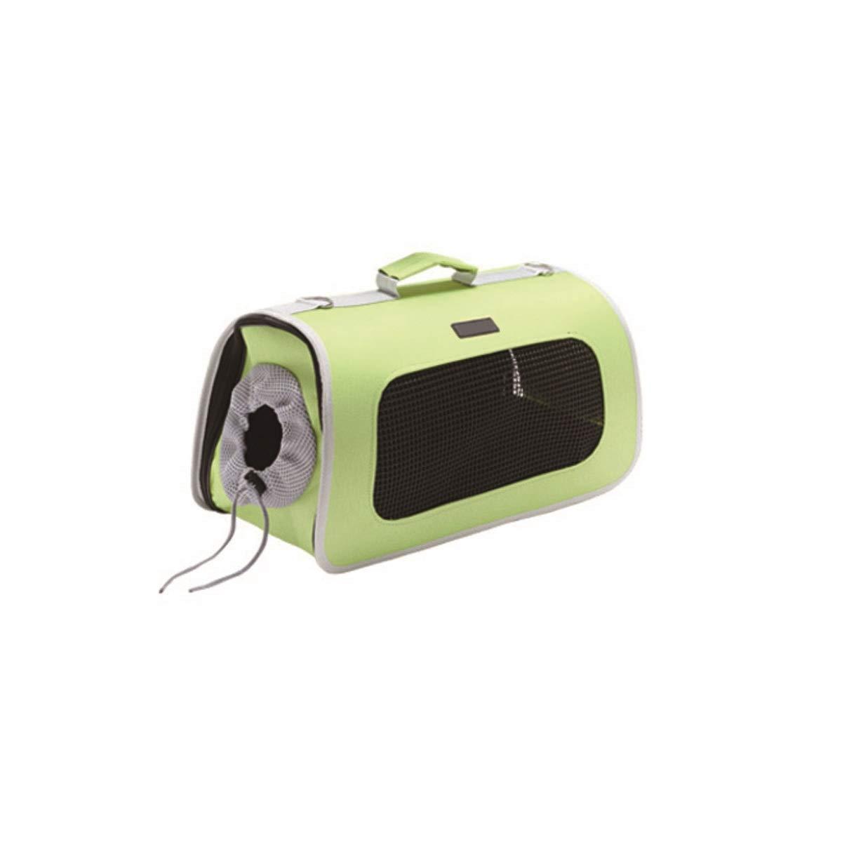 HENGTONGTONGXUN Pet Carrier, Portable Pet Carrier, Portable Cat Carrier, Portable Pet Carrier, bluee, Black, Green, Pink Bite resistant, wear resistant, washable (color   Pink, Size   L)