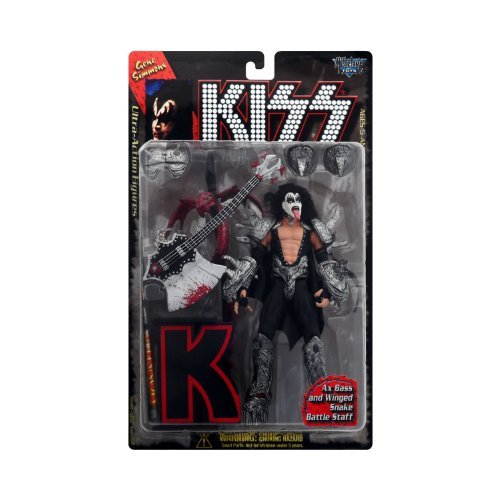McFarlane Toys, KISS, Gene Simmons Ultra Action Figure (Letter Version), 7.5 Inches