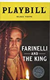 FARINELLI and the KING - Starring Mark Rylance - Official Opening Night Playbill - December 17, 2017 - Belasco Theatre