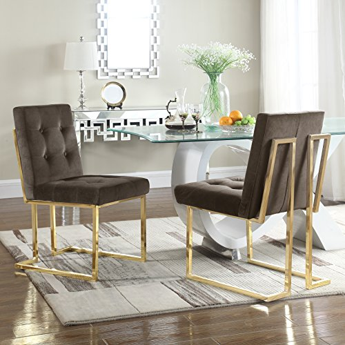 Iconic Home FDC2703-AN Liam Contemporary Brass