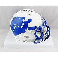 $225 » Barry Sanders Autographed Detroit Lions AMP Speed Mini Helmet - JSA Auth Black