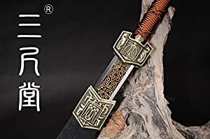 Collection sword Fully Hand-made Home Decoration Chinese Han Dynasty Sword Damascus Folded Steel Collection sword