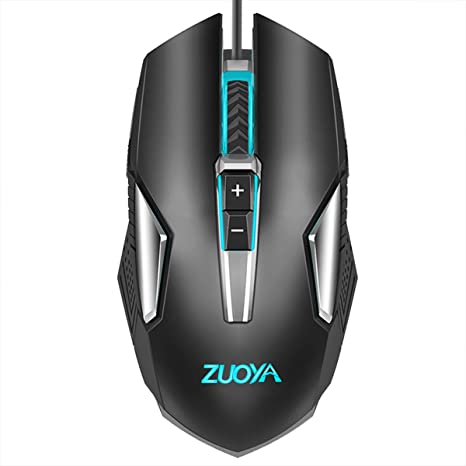 Amazon.com: ZUOYA Gaming Mouse Backlit Computer Wired Mice Ergonomic up to 4800 DPI & 8 Button for Laptop PC Gamer Computer Desktop(MMR8 Black): Computers & Accessories