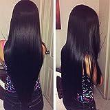 OYM HAIR 4 Bundles Brazilian Straight Hair 100% Virgin Hair Weave Unprocessed Human Hair Extensions Natural Color(10 12 14 16 )