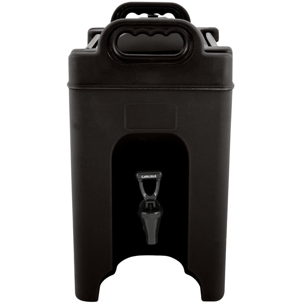 Carlisle XT1000003 Cateraide Insulated Beverage Server/Dispenser, 10 Gallon, Black