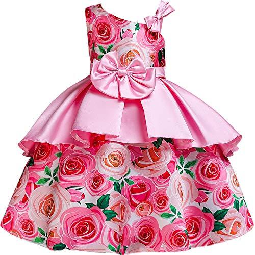 Dresses Wedding Party Princess Dresses Baby Girls First Communion Layered Tutu Dresses,Pink1,4T ()