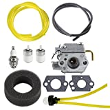 HIPA WT-827 carburetor with Air Filter Fuel Filter Tune-Up Kit for MTD Bolens BL100 BL150 BL250 BL410 Yard Man Machines YM70SS 120R 121R 2800m Y28 Y725 YM1000 YM1500 YM320BV YM400 Weedeater