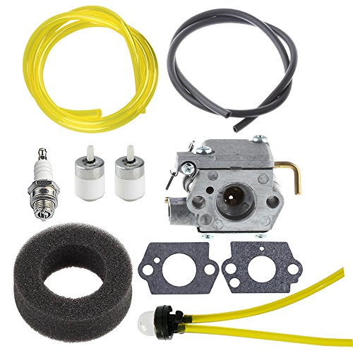 (HIPA WT-827 carburetor with Air Filter Fuel Filter Tune-Up Kit for MTD Bolens BL100 BL150 BL250 BL410 Yard Man Machines YM70SS 120R 121R 2800m Y28 Y725 YM1000 YM1500 YM320BV YM400 Weedeater)