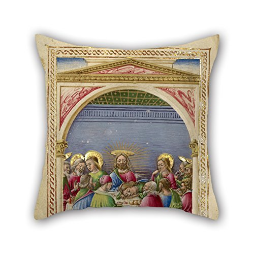Oil Painting Taddeo Crivelli (Italian, Died About 1479, Active About 1451 - 1479) - The Last Supper Throw Pillow Case 16 X 16 Inches / 40 By 40 Cm Best Choice For Pub,sofa,shop,home