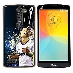 Qstar Arte & diseño plástico duro Fundas Cover Cubre Hard Case Cover para LG L Prime D337 / L Bello D337 (Sonreír Ronaldo)