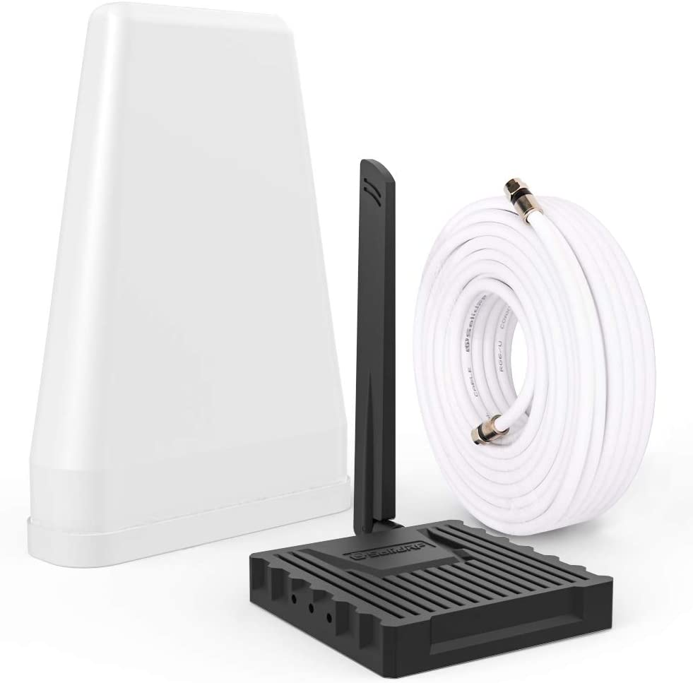 SolidRF Cell Phone Signal Booster-for Home, Convenience Store, Apartment, Workshop | All U.S. Carriers Verizon, AT&T, T-Mobile, Sprint & More | Supports 2,000 sq ft