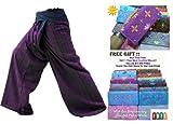 """Cheap """"HITHOT""""2 TONE Thai Fisherman Pants Yoga Trousers FREE SIZE Plus Size Cotton"""