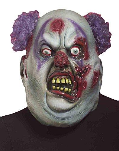 Forum Novelties 66795 Zombie Clown Mask, 10 x 8 x 8 inches, Multicolor Clown 3/4 Mask