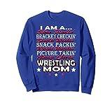 Unisex Wrestling Sweatshirt - Wrestling Mom Sweater 2XL Royal Blue
