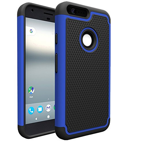 [Google Pixel Case, Asstar Dual Layer Hybrid Defender Protective Shock Absorption Impact Resist Rugged Shell Armor Defender Rubber Protective Case Cover for Google Pixel] (Pixel Gloves)