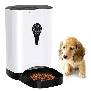 Smart Dog Cat Cámara De Video Monitoreo Máquina Automática De Alimentación De Mascotas Tiempo De Voz Alimentación De Comidas para Perros Gatos,White: ...