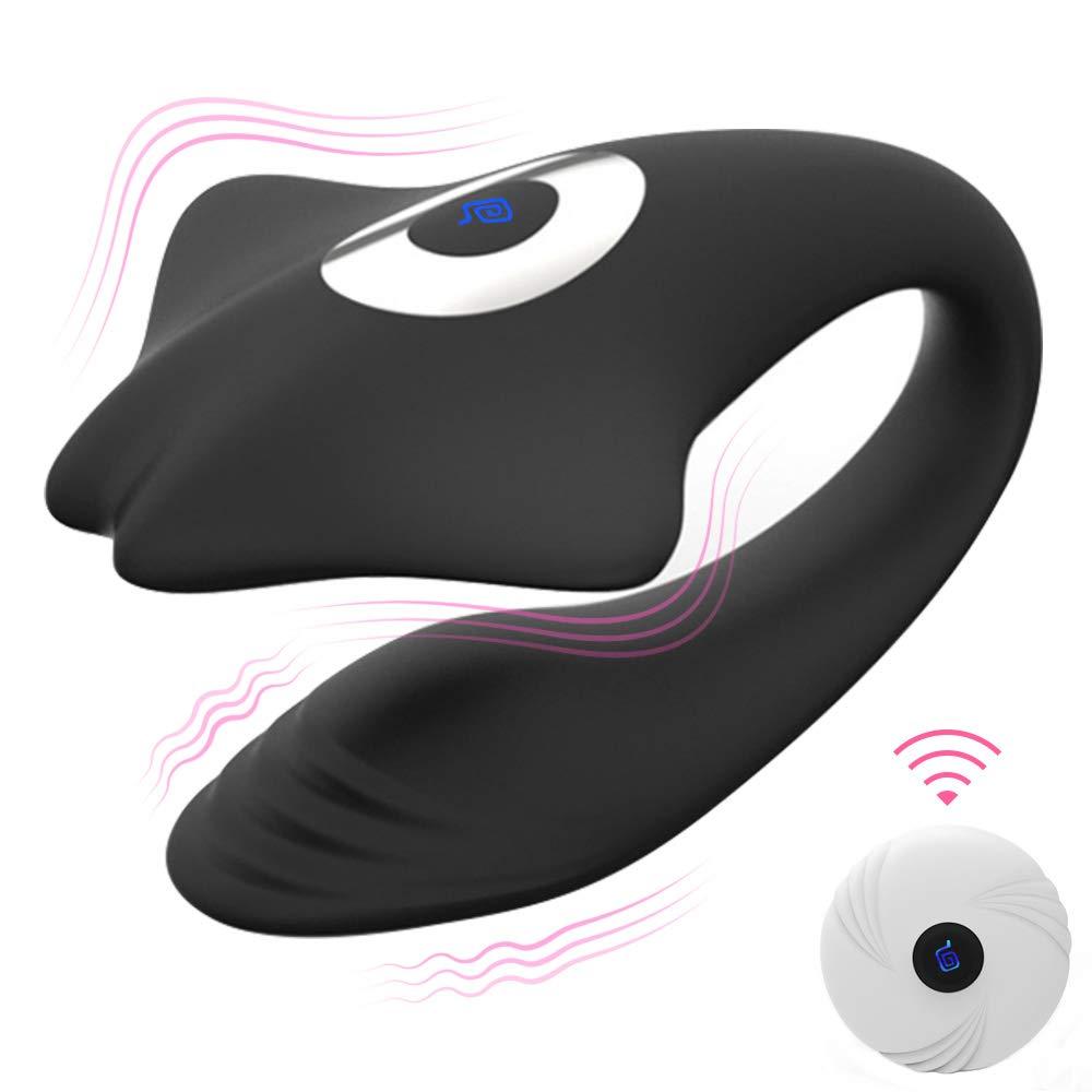 Paarvibrator Vibratoren mit Kabellos Fernbedienung, Paarvibratoren für Sie Klitoris und G-punkt Stimulation für Frauen und Paare, Silikon Dual Motor Vibrator Massagegerät, Wiederaufladbar, Leise
