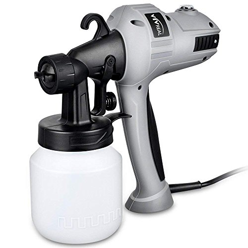 VIVREAL Paint Sprayer Spray Gun - Electric Paint Sprayer Gun 400w Spray Paint Gun with Three Spray Patterns, Adjustable Valve Knob, Flow Control and 800ml Container for Home Indoor Outdoor Painting