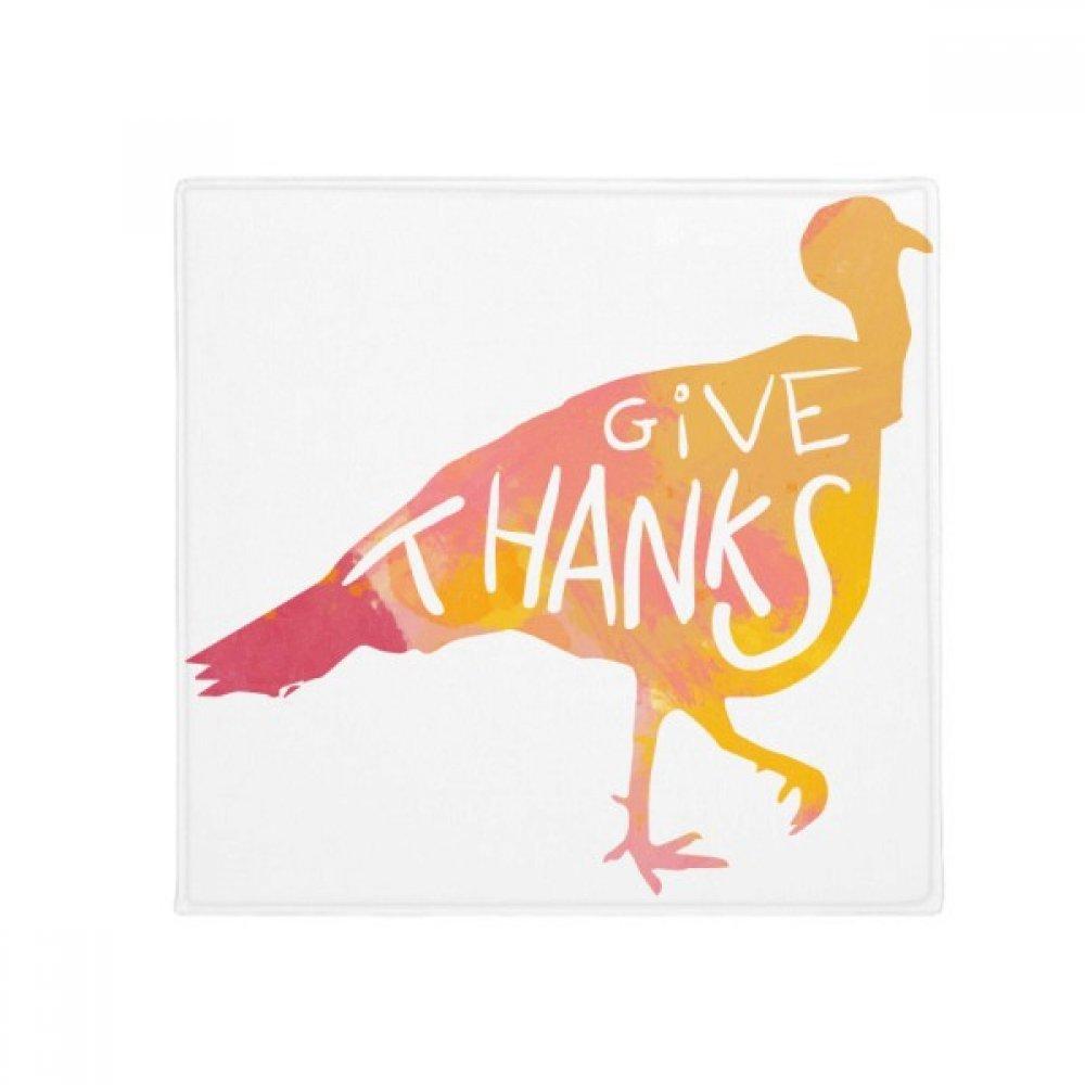DIYthinker Thanksgiving Day Turkey Watercolor Anti-Slip Floor Pet Mat Square Home Kitchen Door 80Cm Gift