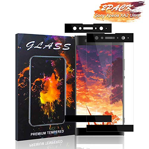 Sony Xperia XA2 Ultra Screen Protector Haorz Full Coverage HD Tempered Glass Film Protection [2 Pack] Bubble-Free Anti Fingerprint Case Friendly 3D-Touch Compatible with Sony Xperia XA2 Ultra