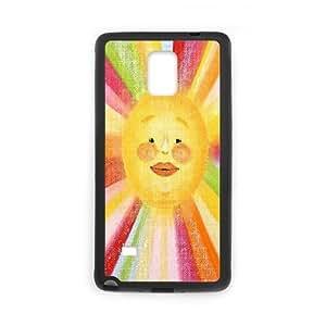Yearinspace The Lovely Sun Samsung Galaxy Note 4 Case Cute For Girls, Samsung Galaxy Note 4 Cases For Women Hard [Black]