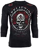 Affliction  Men Long Sleeve T-Shirt Rest in Grease